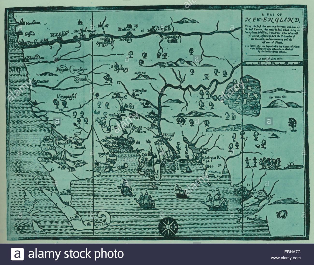 karta new england New England karta   Karta över New England usa (Amerikas Förenta  karta new england