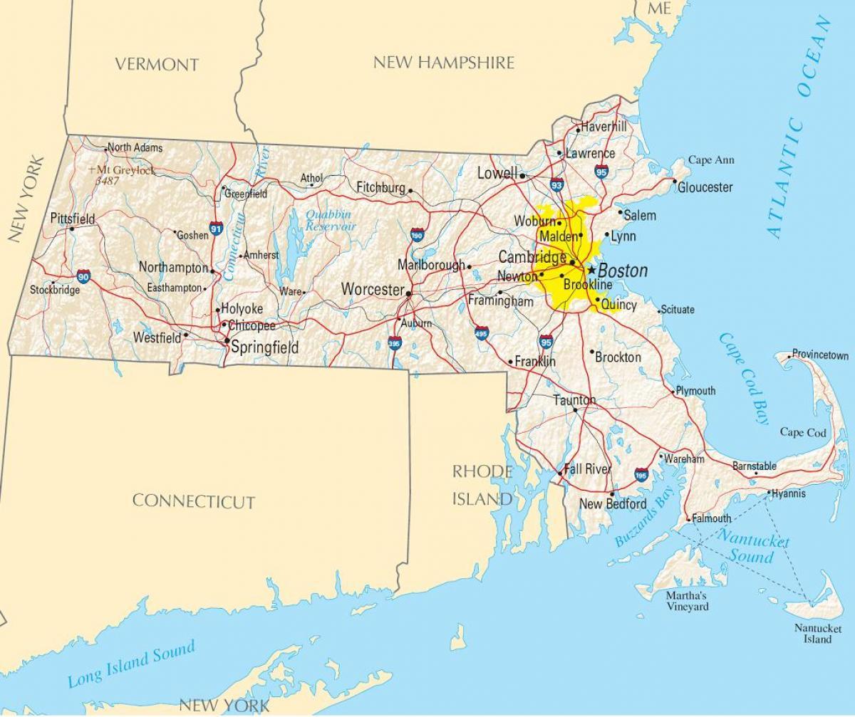 boston karta Boston amerika karta   Karta över Boston usa (Amerikas Förenta Stater) boston karta