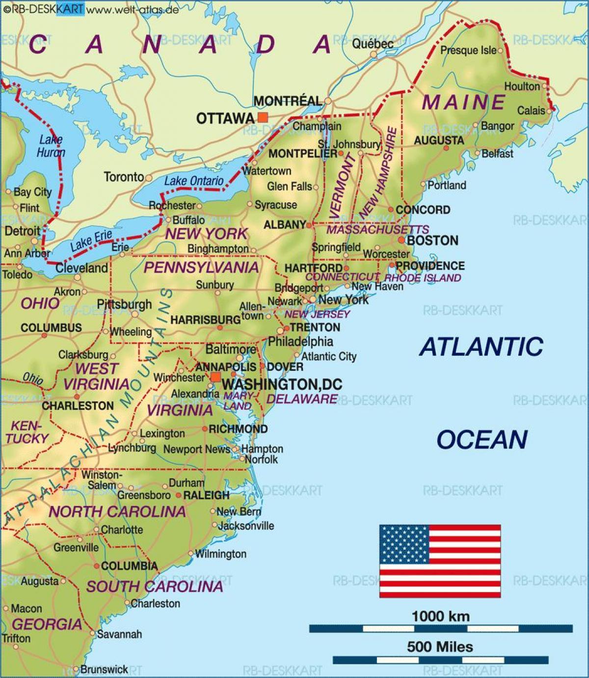boston karta Boston usa karta   Boston på oss karta (Usa) boston karta